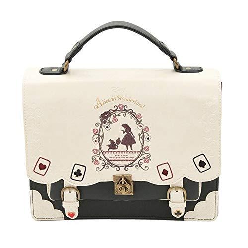 XF Hong Tai Yang Ladies Handbag Alice in Wonderland Poker Silhouettes Shoulder Bags -26X22X9CM (Color : B, Size : 26X22X9CM)