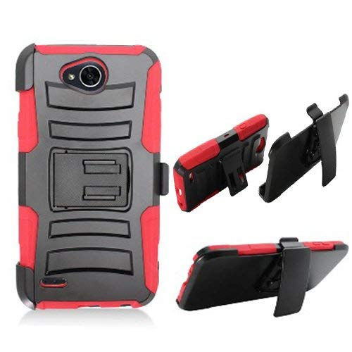 info for e3325 f928b Phone Case Straight Talk LG Fiesta L64vL 63BL, Tracfone LG Fiest-2 L163B,  (Simple Mobile) LG X-Power-2 LTE, LG X-Charge, LV7 Rugged Cover Stand Combo  ...