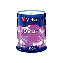 Verbatim AZO DVD+R 4.7GB 16X with Branded Surface, 100pk Spindle