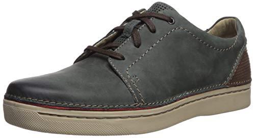 CLARKS Men's Kitna Stride Sneaker Slate Leather 9.5 M US