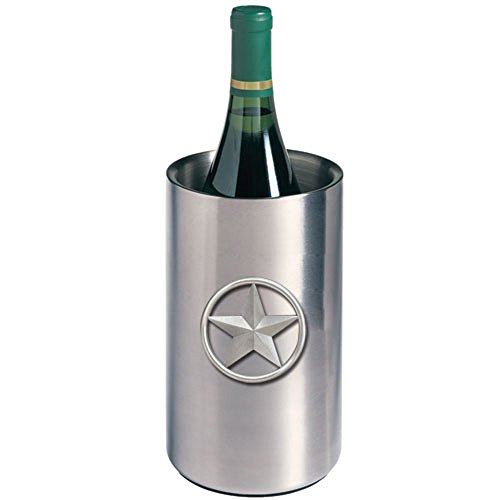 TEXAS, DALLAS COWBOYS, LONE STAR WINE CHILLER, This is a wine chiller made of double-wall insulated stainless steel with a fine pewter logo medallion bonded to the - Medallion Letter Opener