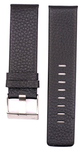 24mm Leather Suitable ForDZ4331 DZ1659 DZ1075 DZ1467 Watches Band Strap (black) (Diesel Leather Strap Watch)