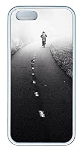 iPhone 5 5S Case landscapes nature road bicyclet 68 TPU Custom iPhone 5 5S Case Cover White