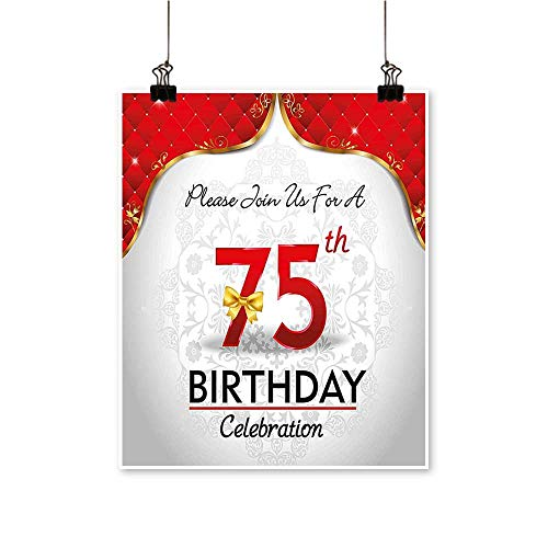 On Canvas Prints Royal Display Birthday Party Floral Invitation Ceremony Bow Gold Red White Paintings for Wall Decor,20