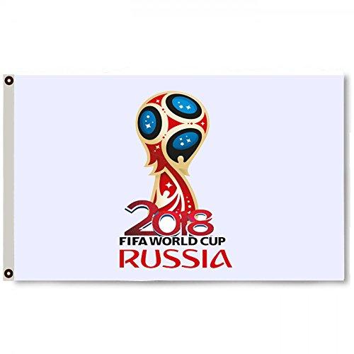 2But Russia FIFA World Cup 2018 White Flag Banner 3x5Feet