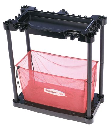 Rubbermaid Sports Gear Storage Station, Black/Red (FG5A4300BLARD)