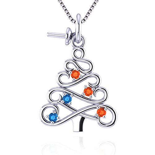 NY Jewelry 925 Sterling Silver Christmas Rainbow Tree Pearl Pendant Mount Best Gift