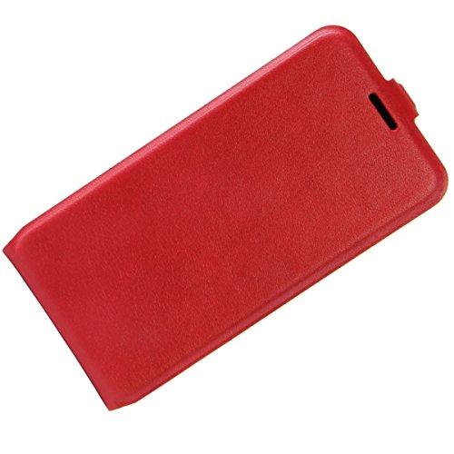Para Xiaomi Redmi 4 High Edition Caso compacto de piel PU, arriba-abajo piel abierta PU Funda de piel con ranura para tarjeta y función de protección completa con cierre magnético Caja a prueba de gol rojo