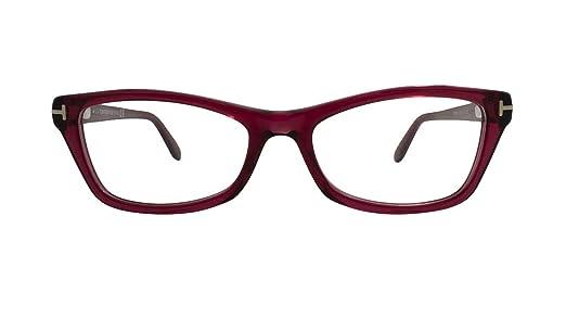 0ec36a5ba5 TOM FORD Eyeglasses FT5265 068 Red 53MM at Amazon Men s Clothing store   Prescription Eyewear Frames