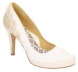 Hey Lady Heel Boy Bridal Shoes Diamond White Size 9B