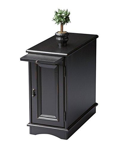 Panel End Rectangular Desk (Offex Transitional Rectangular Chairside Chest - Black)