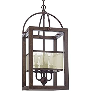 cal lighting fx 3536 4 chandelier with clear seeded glass shades