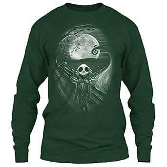 Jack Skellington T Shirt, Skellington Shirt, Halloween T Shirt Long (XXXL,Forest)