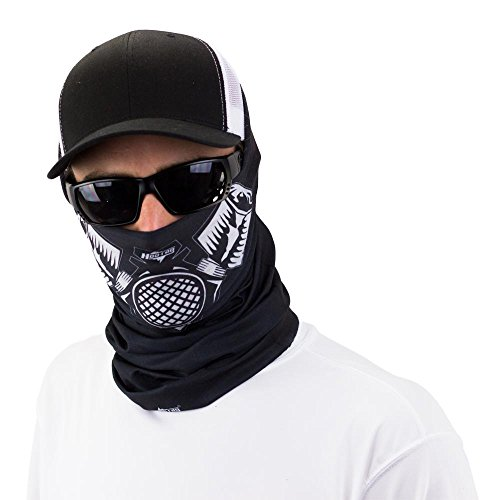 Gas Mask Bandana Face Shield Can Be Worn Over 10 Different Ways 100% Money Back Guarantee