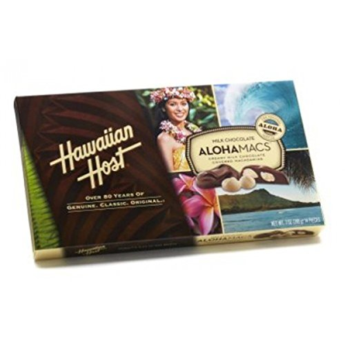 Hawaiian Host AlohaMacs Milk Chocolate 7 oz Box (Pack of 3)