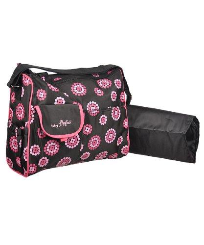 Trendige Wickeltasche inkl. Wickelauflage Farbe pink