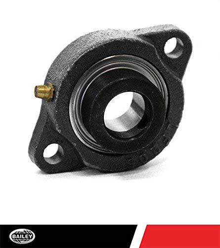 154016 1 Inner Diameter and 7//16 Bolt Size with Set Screw Collar Bearing 2 Bolt Flange UCFL 205-16
