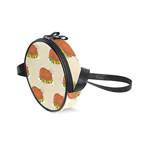 Round Crossbody Bag Basketball On The Color Glow Canvas Circle Crossbody Purse