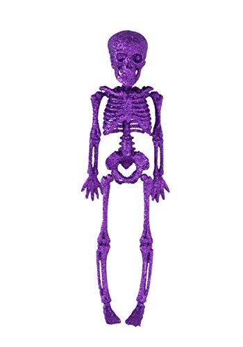 Glitter Skeleton (Halloween Purple Glitter Skeleton 11.5