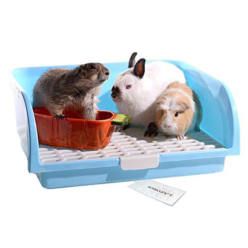 Pet Small Rat Large Toilet, Square Oversize Potty Trainer Corner Litter Bedding Box Pet Pan for Small Animal/Large Rabbit/Guinea Pig/Galesaur/Ferre