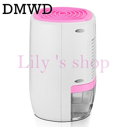 DMWD Portable electric dehumidifier Mini Moisture Absorbing Air Dryer LED display Auto-off Dehumidifiers Air Purifier 110V 220V (pink and white) by DMWD