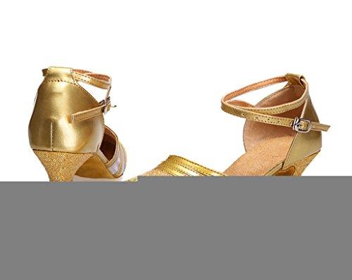 Meijili Zapatillas de Danza Para Mujer, Color Gris, Talla 36