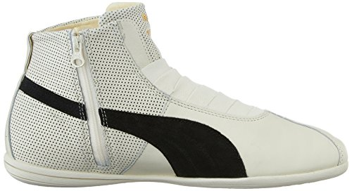 Puma Eskiva mediana Cruz-entrenador del zapato Whisper White/Black