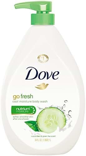 Dove Body Wash Pump, Cucumber and Green Tea 34 oz