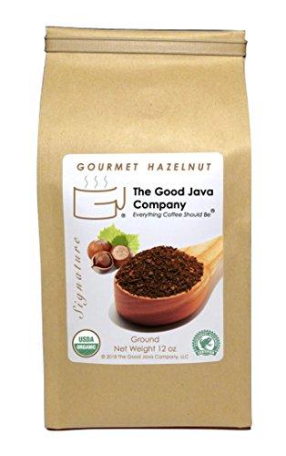 Gourmet Organic Hazelnut Coffee (Ground)