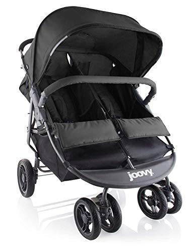 Joovy-Scooter-X2-Double-Stroller-Side-by-Side-Stroller-Stroller-for-Twins-Large-Storage-Basket-Black