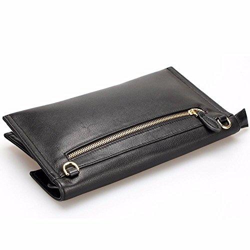 capacité black cuir Black de chaîne embrayage banquet sac ring en grande X8zPwBqxT