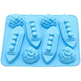 Vistaric Silicone Titanic Shaped Ice Cube Mold Trays Ice Patterns Boat Iceberg Shape Carving Mold Mould Maker For Party Drink