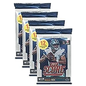Panini 2017 2018 Score NFL Football Trading Cards Retail Factory Sealed 4 Pack