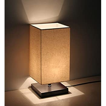 Minimalist Solid Wood Table Lamp Bedside Desk Lamp Amazoncom
