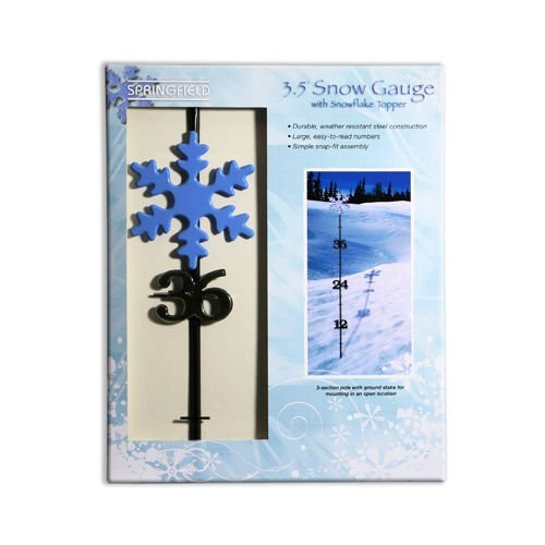(Springfield Taylor, Model 98503, 42 Inch Snow Gauge Snow Measuring Stick With Snowflake Topper)