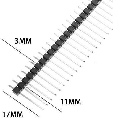 17mm 2,54 mm 1x40 Pin abbrechbar Gerade Stiftleiste (5 Stück) Gaodpz