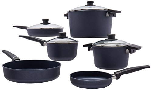 Woll Diamond Lite/Plus Diamond Reinforced Nonstick Scratch Resistant Cast Aluminum Induction Ready Cookware Set, 10-Piece ()