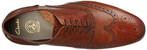 Clarks Limit Uomo 261094 Banfield Tan Stringate Marrone Scarpe Leather rqErwUCxgp