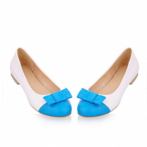 Carol Chaussures Casual Femmes Mignon Bowknots Manchette Mode Couleurs Assorties Doux Chaussures Chaussures Bleu