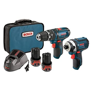 Image of Bosch 12-Volt Max Lithium-Ion 2-Tool Cordless Combo Kit CLPK241-120 Home Improvements