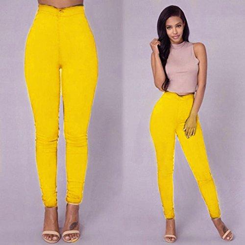 VTements Lastique XXXL Casual Denim Leggings Collant Jaune Multi S HCFKJ Mode Pantalon Couleurs Slim Taille Fille Grande Sexy Jeans Classique Crayon Femmes Skinny 1Pqx7gAxwH