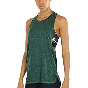 icyzone Workout Tank Tops for Women – Running Muscle Tank Sport Exercise Gym Yoga Tops Running Muscle Tanks(Pack of 3)
