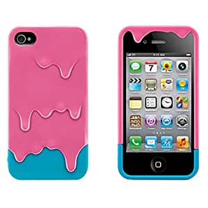 Melting Ice Cream Pc Case For Iphone 4/4S - COLOR#Green