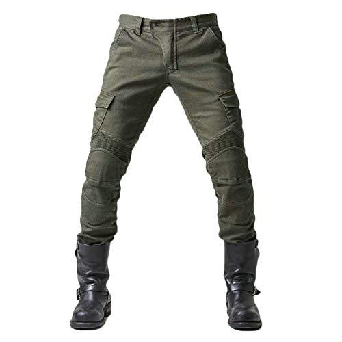 Herren Motorrad Jeans Biker Retro Denim Motorradhose mit Protektoren Schutz Anti-Fall Stretch Motorradjeans mit 2…