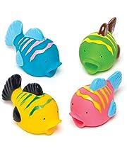 """Waterspuit""""Tropische Vissen"""" voor kinderen als kleine verrassing of als prijs bij partyspelen (4 stuks)"""
