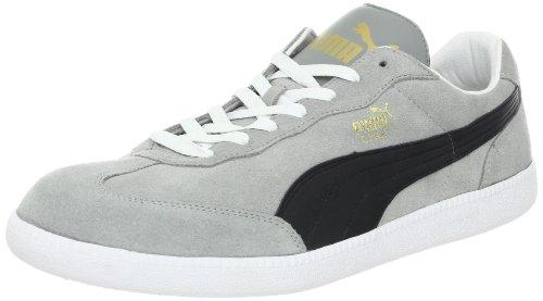 Puma Liga Suede Amazon Black White Mens Trainers Limestone Grey / Black / White