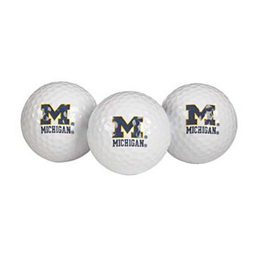 Michigan Wolverines Golf Ball Pack of 3