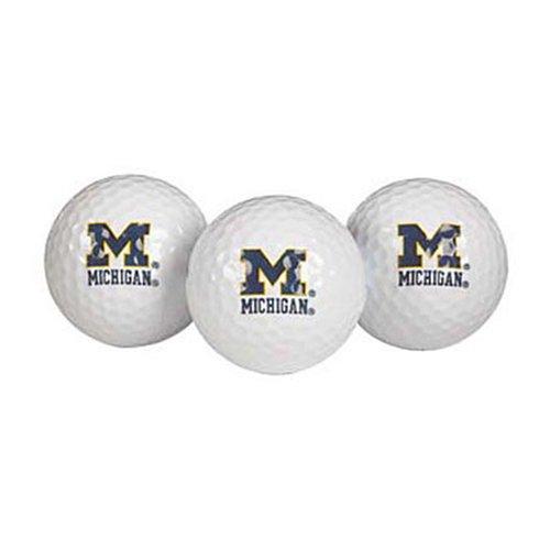 Team Effort Michigan Wolverines Golf Ball 3 Pack ()