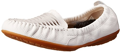 Hush Puppies Women's Lydia Ceil Slip-On Loafer, White Leather, 9.5 W US