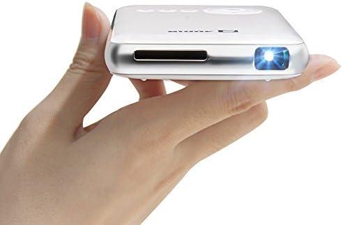 [해외]AODIN 스마트 모바일 DLP 미니 프로젝터 무선 프로젝션 Lightning 케이블 사 HDMI 입력 일본어 모델 LED 광원 최대 1080P 대응 수직 키스톤 보정 (1G + 32G 화이트) / AODIN Smart Mobile DLP Mini Projector Radio Projection Lightning Cable Proj...